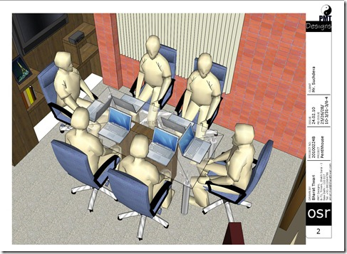 Conference Table:: Designed by Bharat Tiwari (C) PMT Designs (Office Designer, New Delhi)